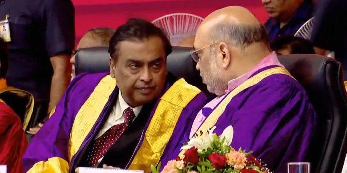 'You are truly Iron Man of India': Mukesh Ambani to Amit Shah